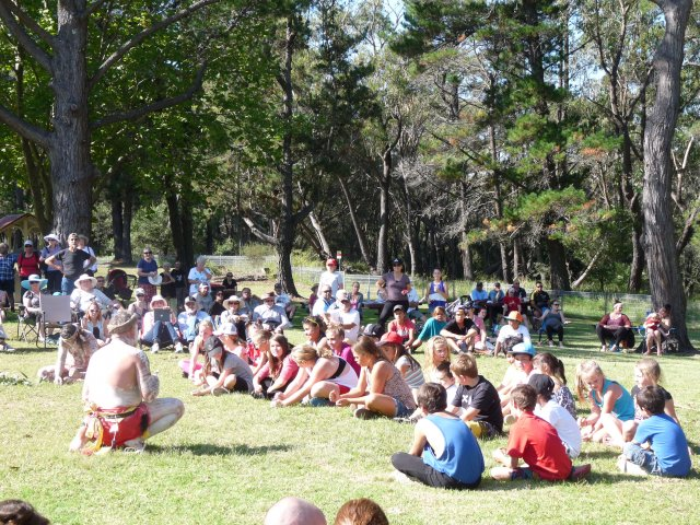 Kids dancing at Appin Massacre Memorial