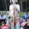 Tribal warrior at Appin Massacre Memorial