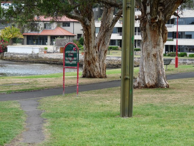 Anderson Park, Neutral Bay, once a popular camping site