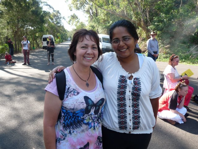Karen Maber, Sheena Kitchener at Appin Massacre Memorial