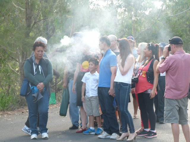 Smoking Ceremony at Appin Massacre Memorial, 2013