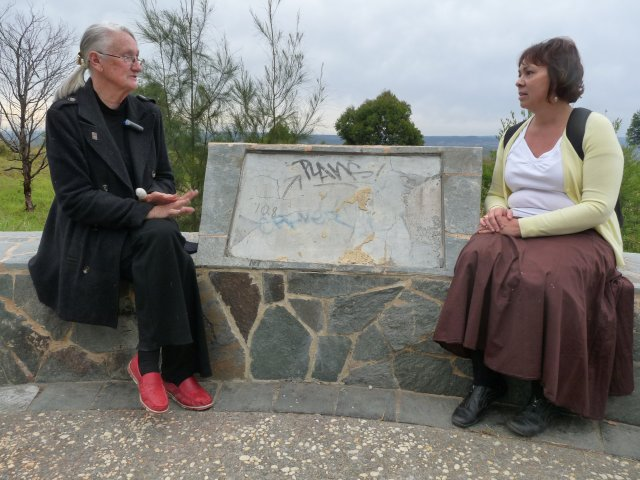 Auntie Fran Bodkin with Karen Maber, William Howe Park, Mt Annan