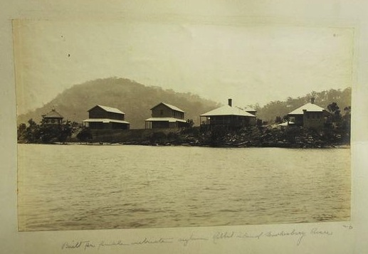 Rabbit Island Asylum for Female Inebriates, Hawkesbury River c1904. Photograph by King & Kerry SLNSW