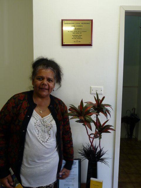 Dolly Brown in Gandangara Local Aboriginal Land Council, Moore St, Liverpool.