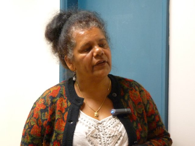 Dolly Brown original Gandangara Land Council member, Liverpool office.
