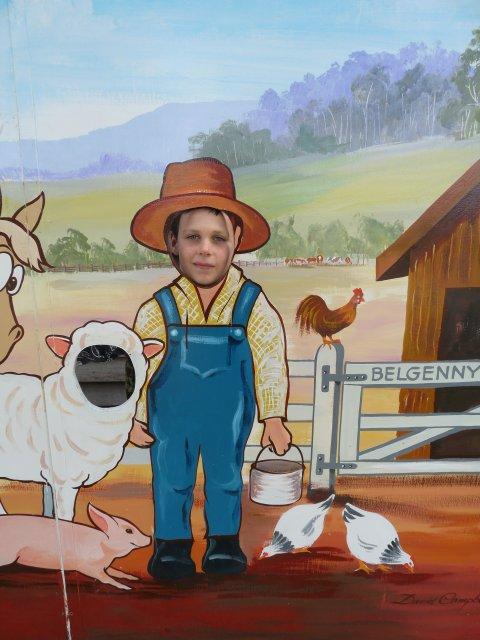 Boy enjoying Belgenny Farm