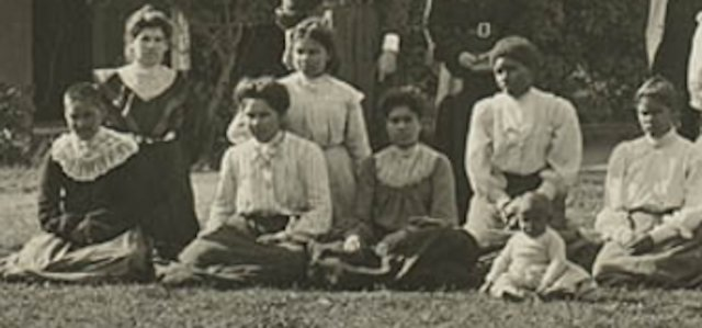Aboriginal Girls Home, Singleton c1906. Detail.  SLNSW