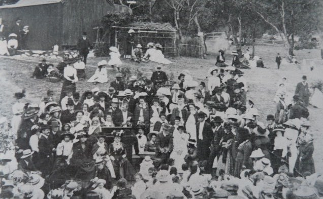 Formal gathering, Australian Aborigines Mission - 1890s