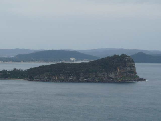Lion Island, a famiiar landmark for navigators up the Hawkesbury River