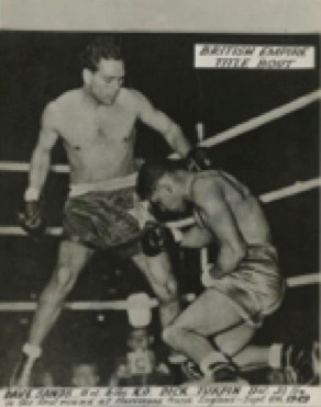 Dave Sands, British Empire Title Bout, England, 1949. NLA