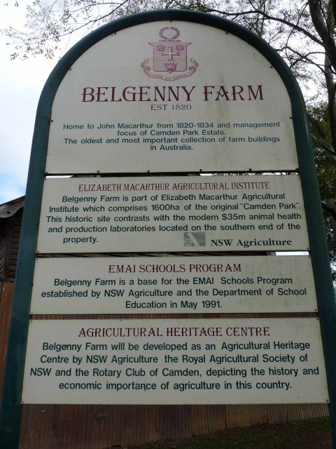 Belgenny Farm, Camden established in 1820