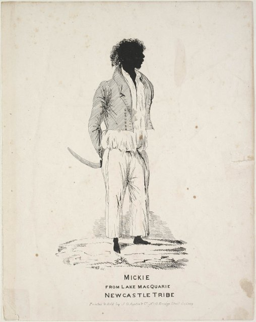 Mickie, Lake Macquarie Newcastle Tribe by William Henry Fernyhough, c1836  SLNSW