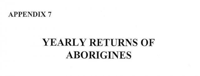 1827-1840 Returns Of Aboriginal people:  Brisbane Water District 1827-1840. Blair 2003, cover