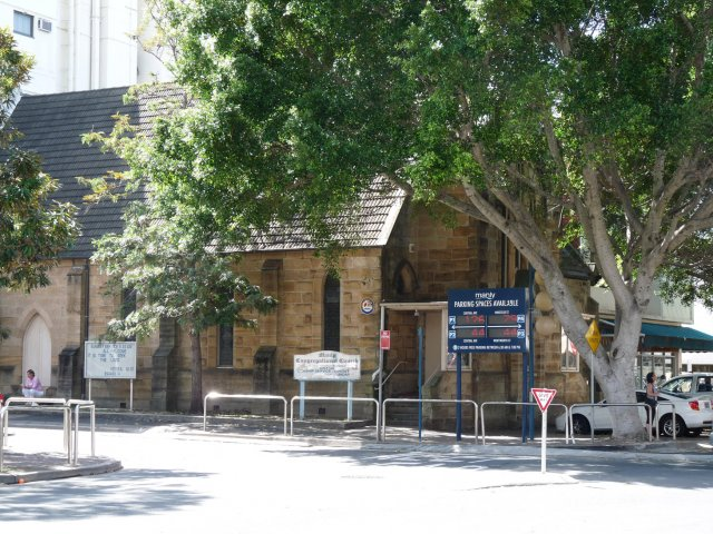 Congregational Church near where the corroborees were held in Manly