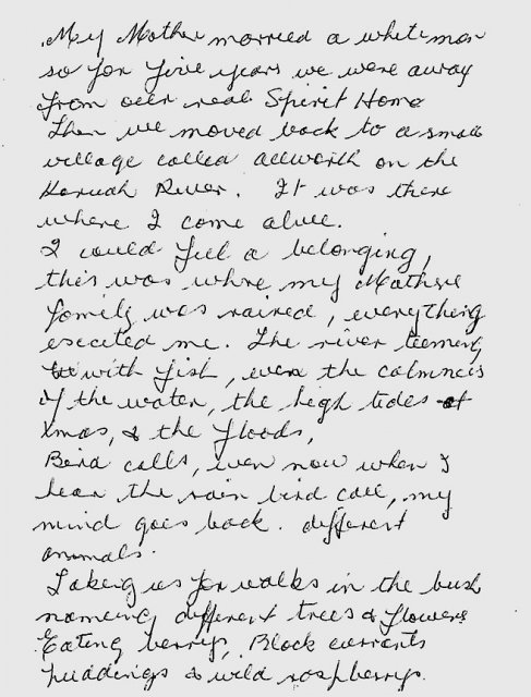Merle McEntyre recalls her return to Allworth on the Karuah River, 1941, p1