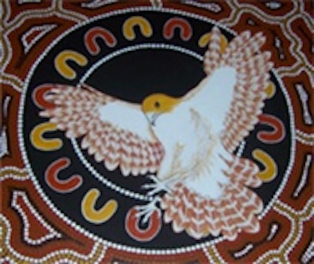 Logo for Mandurah Hunter Indigenous Business Chamber. Artist Les Elvin - 2006