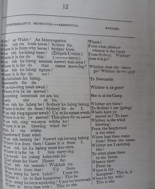 Dialect: Threlkeld c1827, Interrogative sentences p12