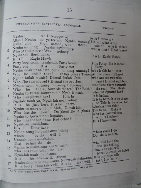 Dialect: Threlkeld c1827, Interrogative sentences p15