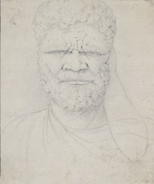 William Westall's drawing of a blind Port Jackson Koori man. Courtesy of National Library of Australia