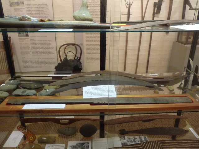 Artefacts from Burragorang Valley courtesy of Camden Museum