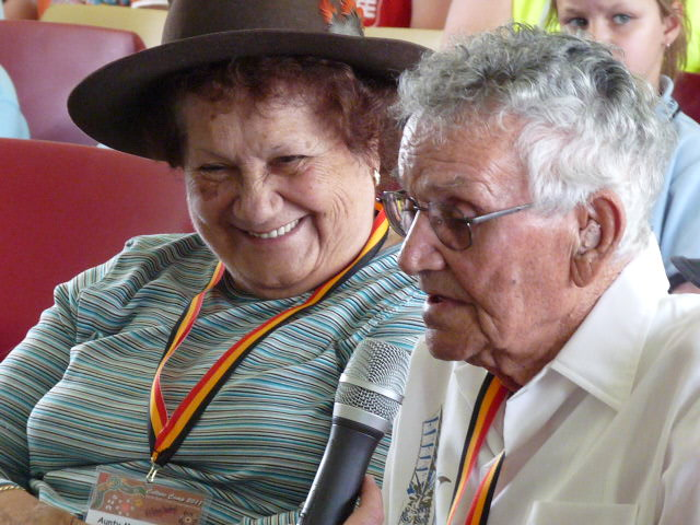Aunty Merle Williams and Uncle Mervyn Cooper at Appin massacre commemoration