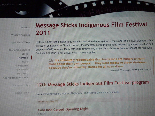 Message Stick film festival poster