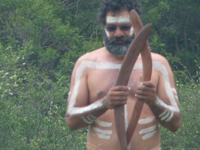 Boomerang Player at Appin massacre commemoration