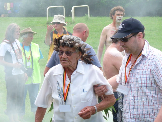 Elder in Smoking Ceremony