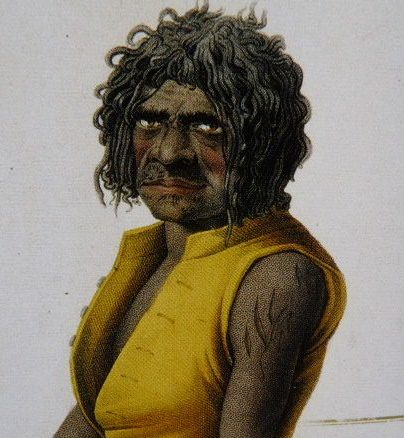 Nepean River native by Alhonse Pellion 1817-20