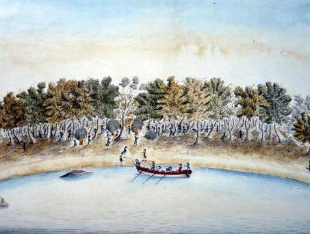 The Governor attempting to return to his boat after spearing by William Bradley