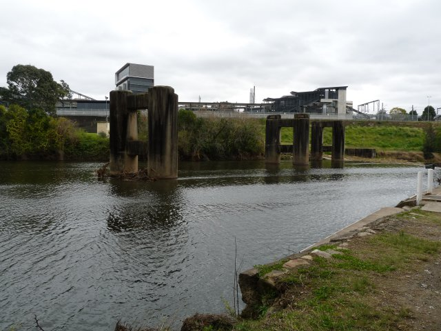 Decommissioned railway bridge, Liverpool where Janny Ely & family swam as kids