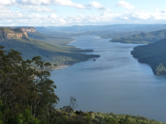 Lake Burragorang from  Burragorang Lookout, Nattai