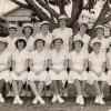 Margaret Slowgrove in NSW State Vigoro team, aged 14, 1952