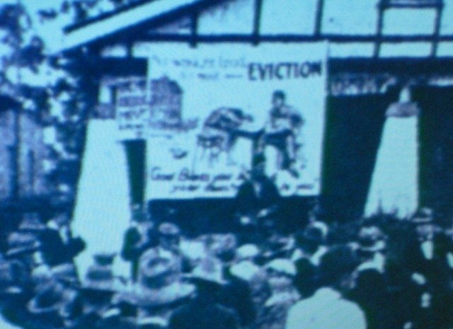 Protest for evictions