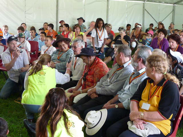 Elders, Aunty Merle Williams, Uncle Mervyn Cooper at Appin massacre commemoration