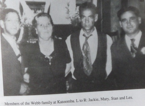 Jackie, Mary, Stan and Les from the Webb family