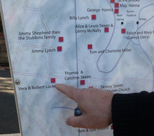 Map of residents' house sites in the Gully, Katoomba