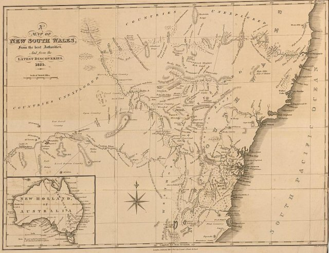 Map of NSW, 1825 courtesy of the National Library